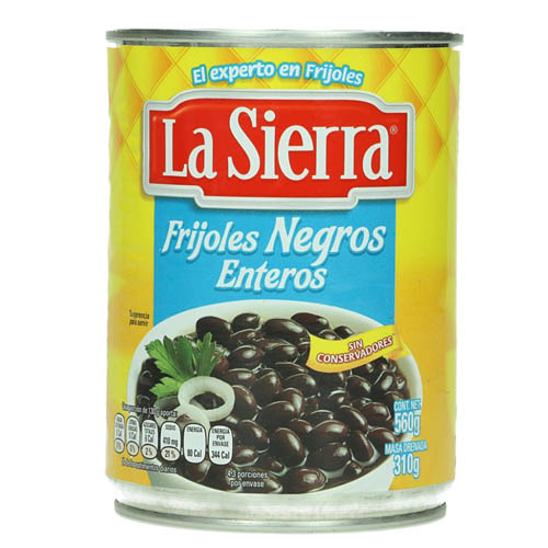 mexitheque - la sierra - frijoles negros - 560g