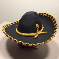 mexitheque - Sombrero - Charro - Noir - Or - Petit