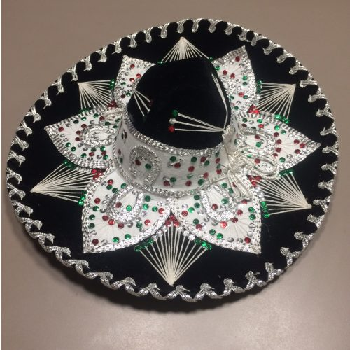 mexitheque - Sombrero - Noir - Blanc
