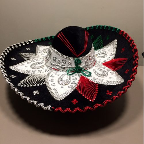mexitheque - Sombrero - Noir - Tricolore