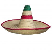 mexitheque - Sombrero - Paille - Rouge