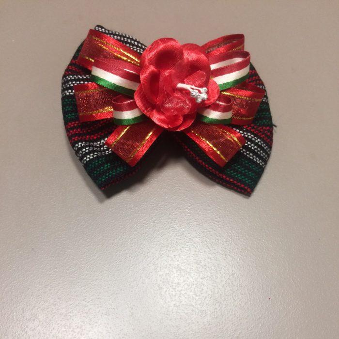 mexitheque - mono - fleur rouge - 13cm