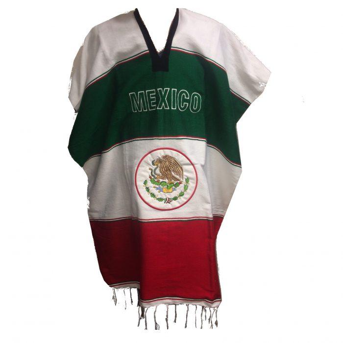 mexitheque - poncho - bandera blanc