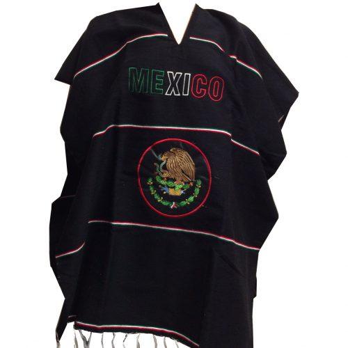 mexitheque - poncho - bandera noir