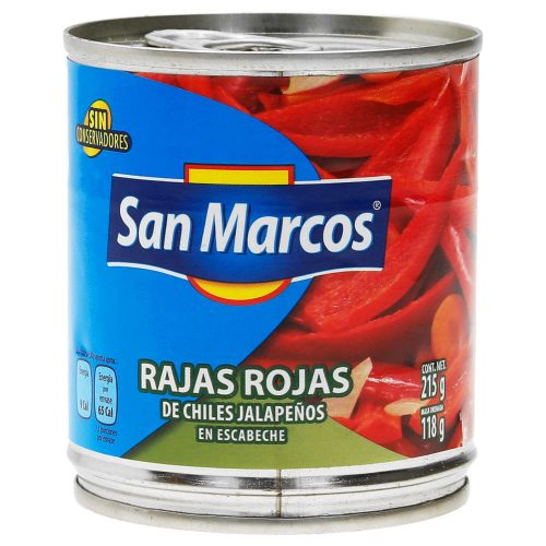 mexitheque - san marcos - rajas rojas - 215g
